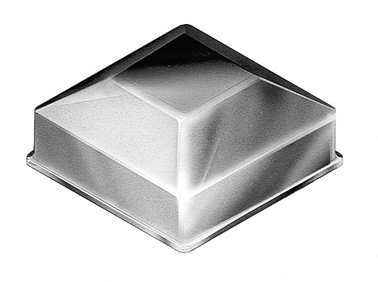 SQUARE SECTION CAPS GALVANISED - SPC35