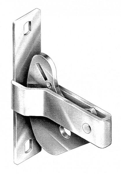 BOLT ON FLAT GATE D LATCHES GALVANISED - DLB01LG