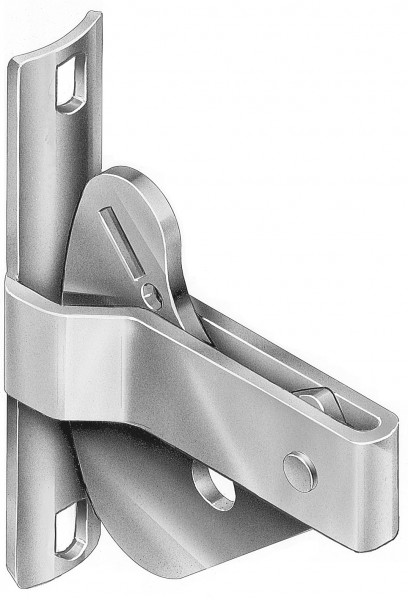 BOLT ON ROUND GATE D LATCH ZINC - DLABPL