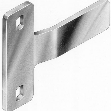 BOLT ON FLAT GATE D LATCH STRIKERS ZINC - DLBO1S
