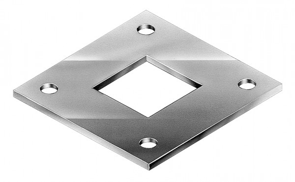 SQUARE PIPE FLANGES SQUARE SECTION GALVANISED - SPF50
